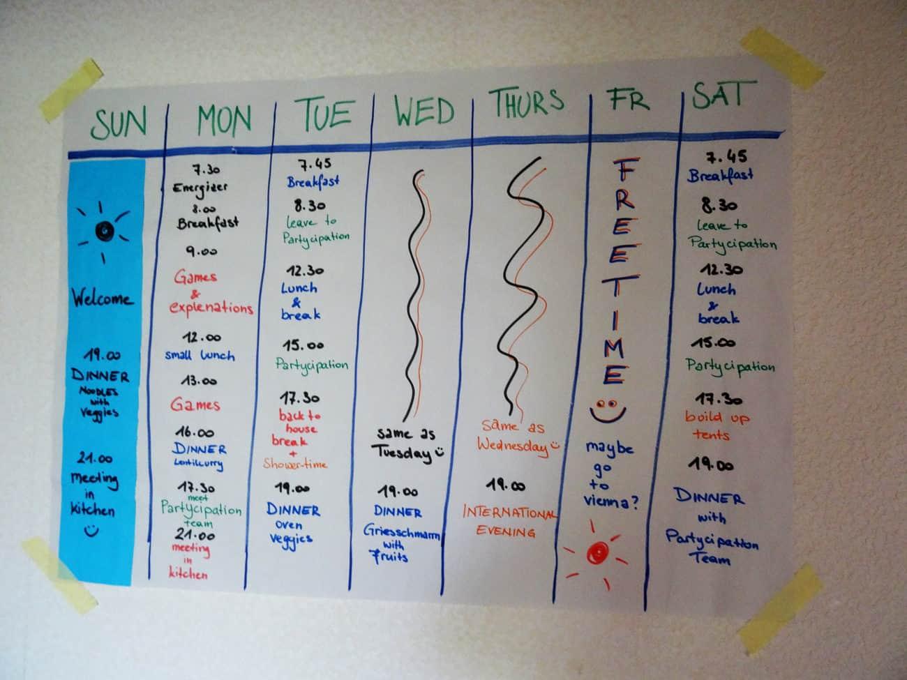 Workcamp Schedule, Leaders