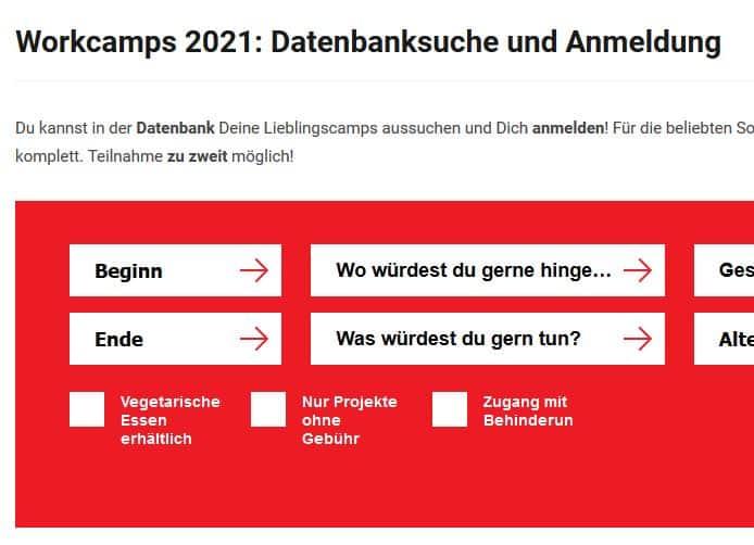 Neue Datenbank mit Workcamps für den Sommer